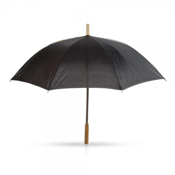 מטריה עם מוט מתכת ידית אחיזה מעץ 21 אינץ', TSK-6886