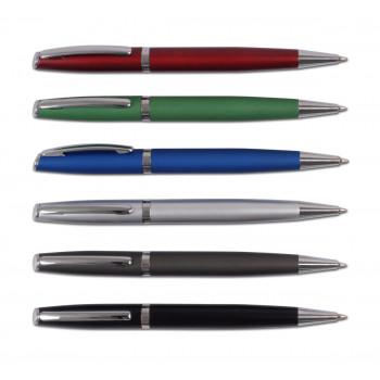 עט מתכת כדורי בפתיחת סיבוב