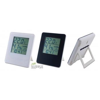 שעון דיגיטלי מד מעלות ומד לחות באחד