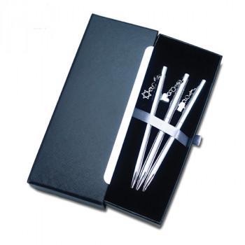3 עטי תכשיט בקופסת מגירה