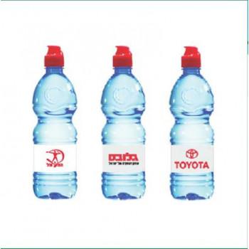 """בקבוק מיים מינרלים ממותג לוגו """"נביעות"""""""