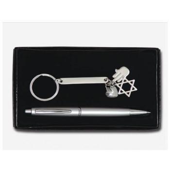 עט פלסטי ואריזת קרטון