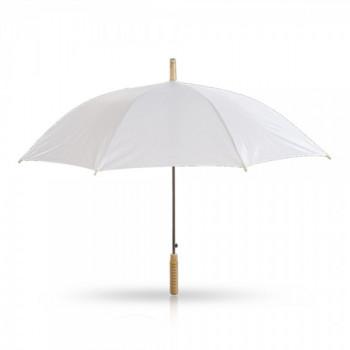 מטריה עם מוט מתכת ידית אחיזה מעץ 23 אינץ', TSK-6871