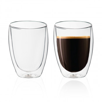 זוג כוסות זכוכית עם דופן כפולה 350, TSM-8528