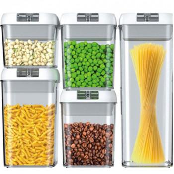 סט 5 קופסאות עם סוגר ואקום לאחסון מזון,TNY-7653