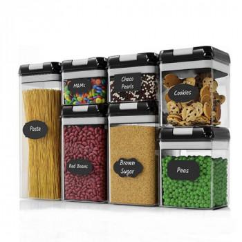 סט 7 קופסאות עם סוגר ואקום לאחסון מזון באריזת מתנה,TNY-3461