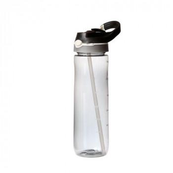 בקבוק פלסטיק מעוצב לשתייה קרה.פיה נשלפת בלחיצה.ידית נשיאה עם קליפס,TNY-55922