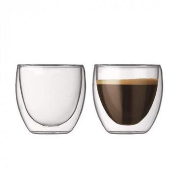 זוג כוסות דופן כפולה לאספרסו. קיבולת 100 מל  באריזת מתנה, TNY-8950