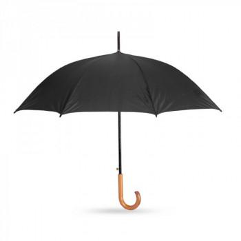 מטריה מעוצבת עם מוט מתכת וידית סבא מעץ, TSK-6855