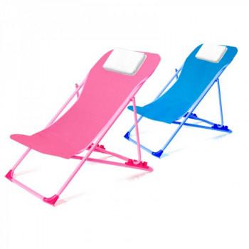 כיסא ים כיסא נוח לילדים עם משענת מתכווננת וכרית ראש, TSK-6983