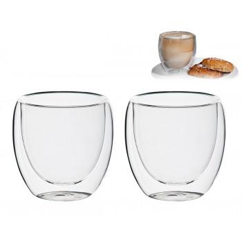 זוג כוסות זכוכית, דופן כפולה, TSM-8521