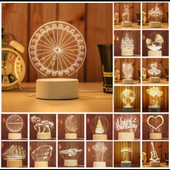 מנורת לד מעוצבת- ניתן לבחור ממגון עיצובים או לייצר בעיצוב אישי,TXLED-1111