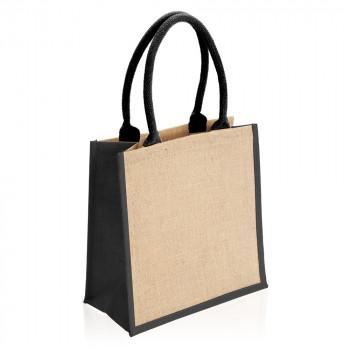 תיק בד עשוי דיוט עם ידיות קשיחות