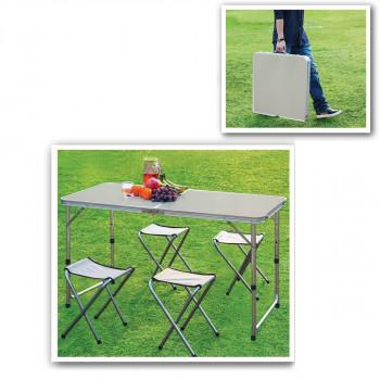 שולחן מתקפל עם כסאות