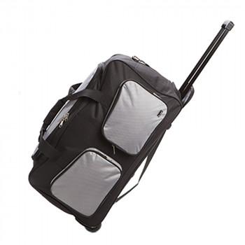 תיק נסיעות איכותי על גלגלים עם ידית טרולי  22 אינץ'