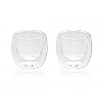 זוג כוסות זכוכית, דופן כפולה