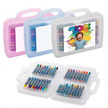 מזוודה קשיחה 36 צבעי פנדה צבעוניים, TSK-219