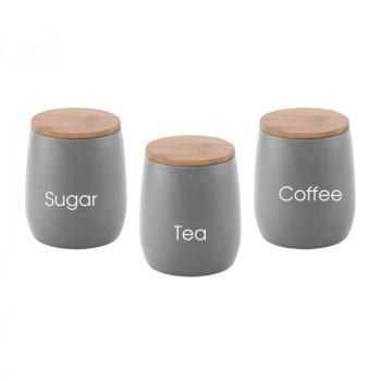 סט אחסון 3 חלקים לקפה,תה וסוכר,TSK-9505